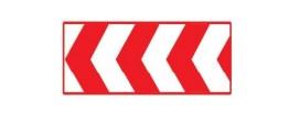 Señales circunstanciales y de balizamiento: Panel direccional provisional