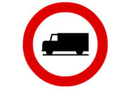 R-106. Entrada prohibida a vehículos destinados al transporte de mercancías