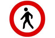 R-116. Entrada prohibida a peatones
