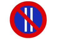 R-308b. Estacionamiento prohibido los días pares