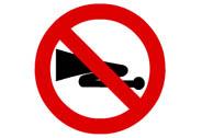 R-310. Advertencias acústicas prohibidas
