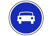 R-404. Calzada para automóviles, excepto motocicletas sin sidecar