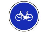 R-407b. Vía reservada a ciclomotores