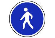 R-410. Camino reservado para peatones