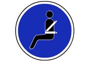 R-417. Uso obligatorio del cinturón de seguridad