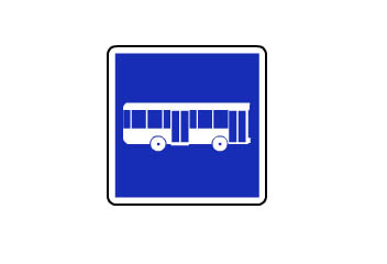 S-51. Carril reservado para autobuses