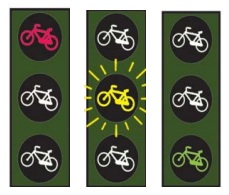 Semáforos reservados a ciclos y ciclomotores