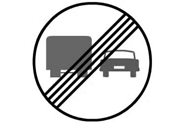 R-503. Fin de la prohibición de adelantamiento para camiones
