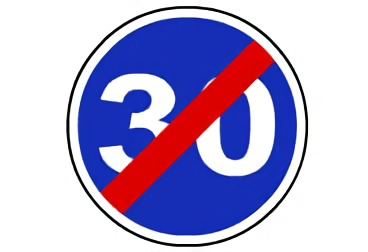 R-506. Fin de velocidad mínima