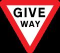 Señal give way en UK