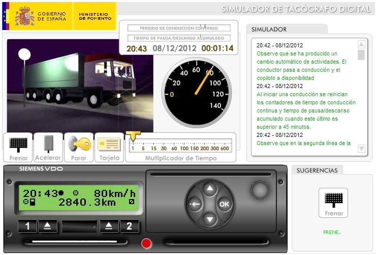 simulador tacografo digital fomento