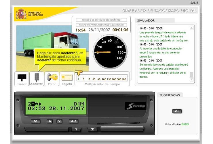 simulador tacografo digital ministerio de fomento