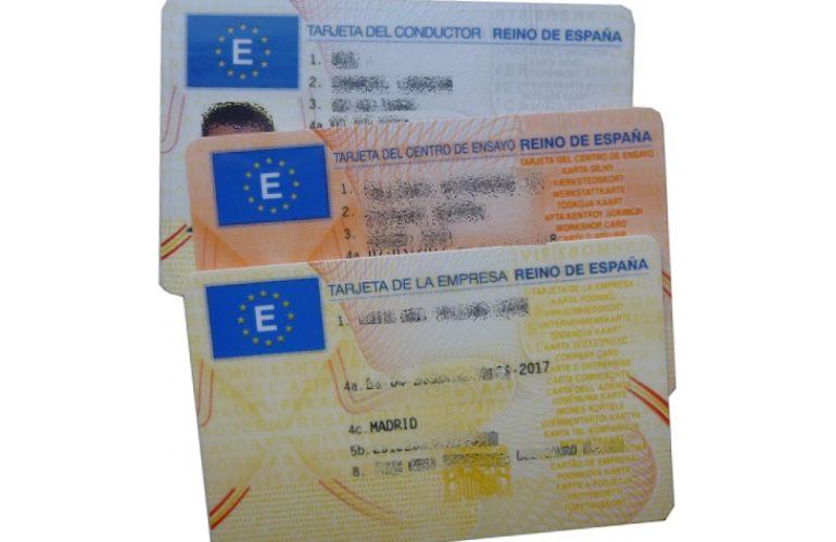 tarjeta de tacografo digital conductor empresa centro de ensayo