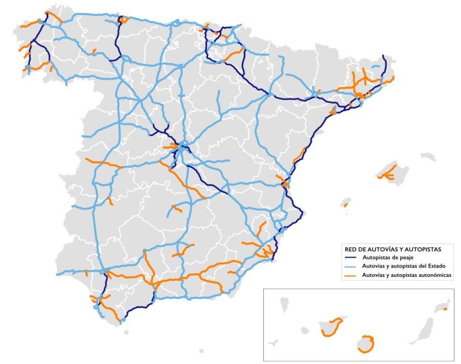 Red de Autovias y Autopistas de España