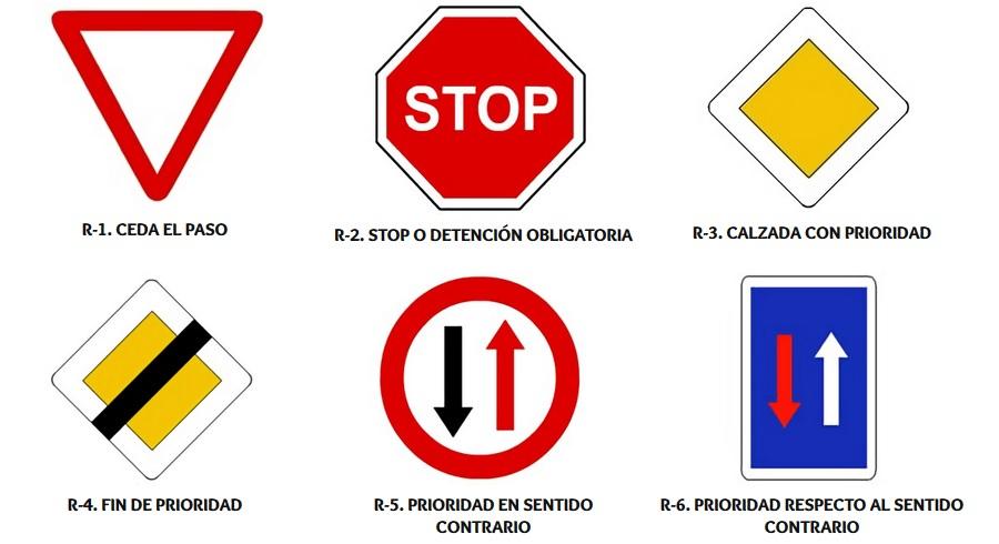 las señales de prioridad de trafico