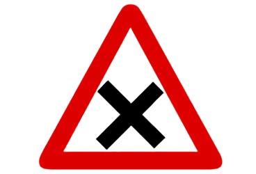 señal P-2 Intersección con prioridad de la derecha