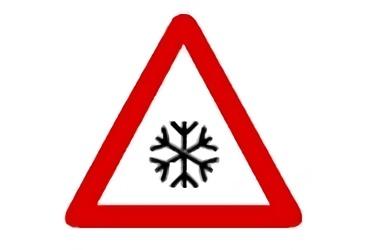señal P-34 Pavimento deslizante por hielo o nieve