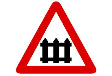 señal P-7 Paso a nivel con barreras