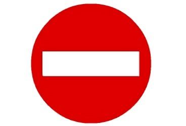 señal R-101 Entrada prohibida