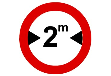 señal R-204 limitación de anchura