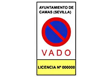 señal R-308e Estacionamiento prohibido en vado