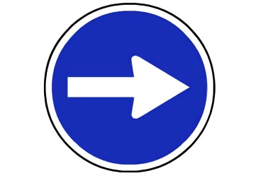 señal R-400a Sentido obligatorio
