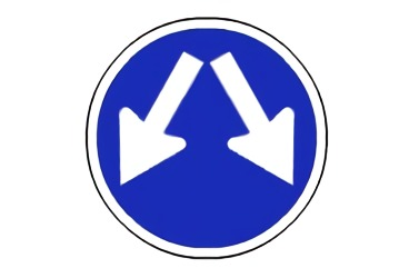 señal R-401c Paso obligatorio