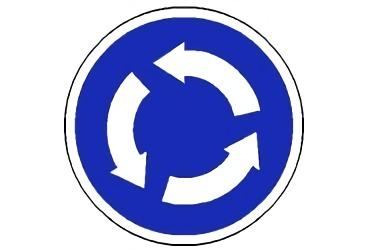 señal R-402 Intersección de sentido giratorio obligatorio