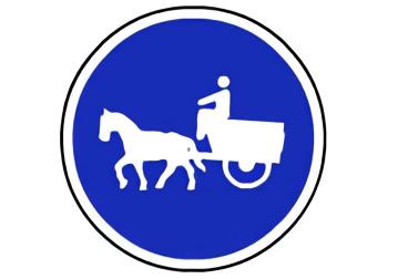señal R-408 Camino para vehículos de tracción animal