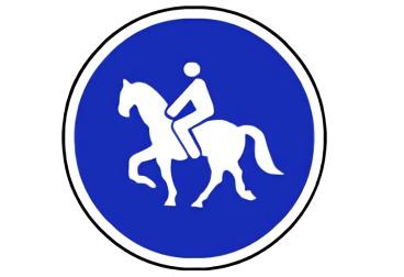 señal R-409 Camino reservado para animales de montura