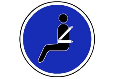 señal R-417 Uso obligatorio del cinturón de seguridad