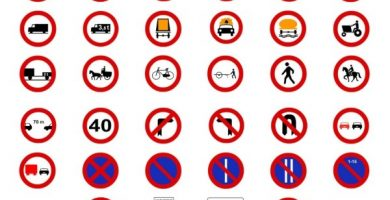 señales de prohibicion de aparcar y prohibido