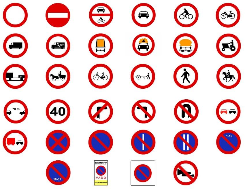 señales de prohibicion de trafico