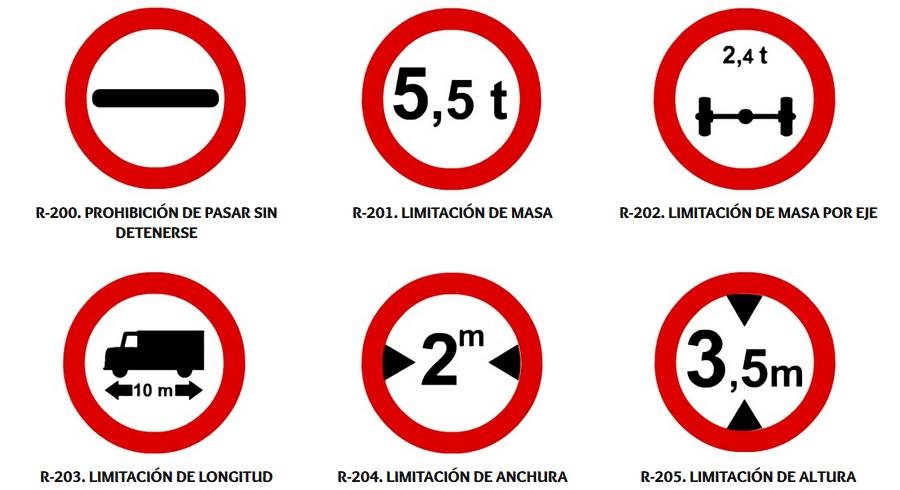 señales de restriccion de paso