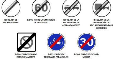 señales fin de prohibicion o restriccion
