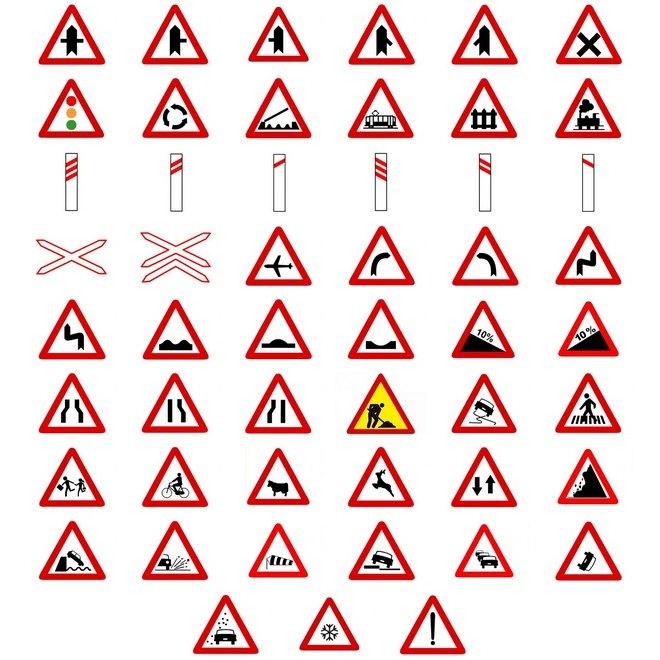 todas las señales de advertencia de peligro