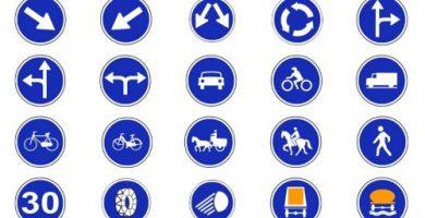 todas las señales de obligacion de trafico