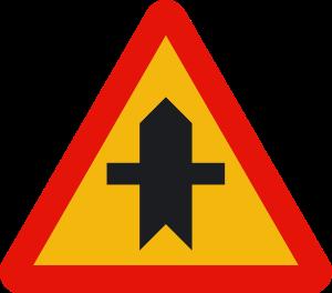 señal de obras TP-1 intersección con prioridad