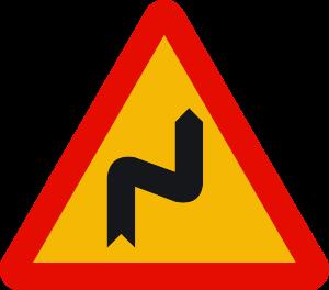 señal de obras TP-14a curvas peligrosas hacia la derecha