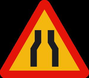 señal de obras TP-17 estrechamiento de calzada