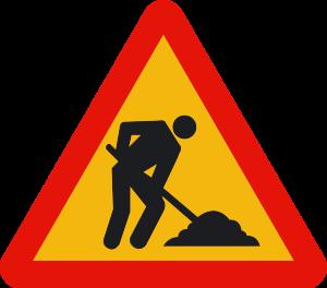 señal de obras TP-18 obras