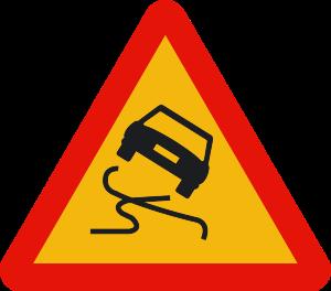 señal de obras TP-19 pavimento deslizante