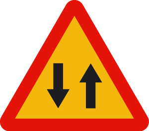señal de obras TP-25 circulación en los dos sentidos