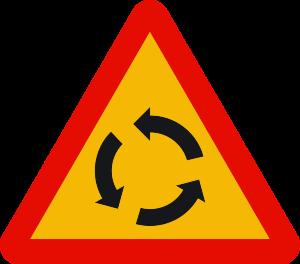 señal de obras TP-4 intersección con circulación giratoria