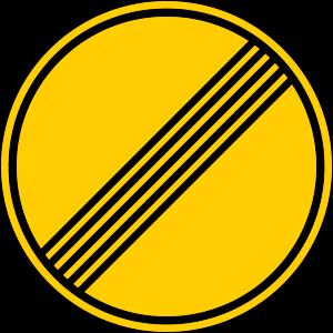 señal de obras TR-500 fin de prohibiciones